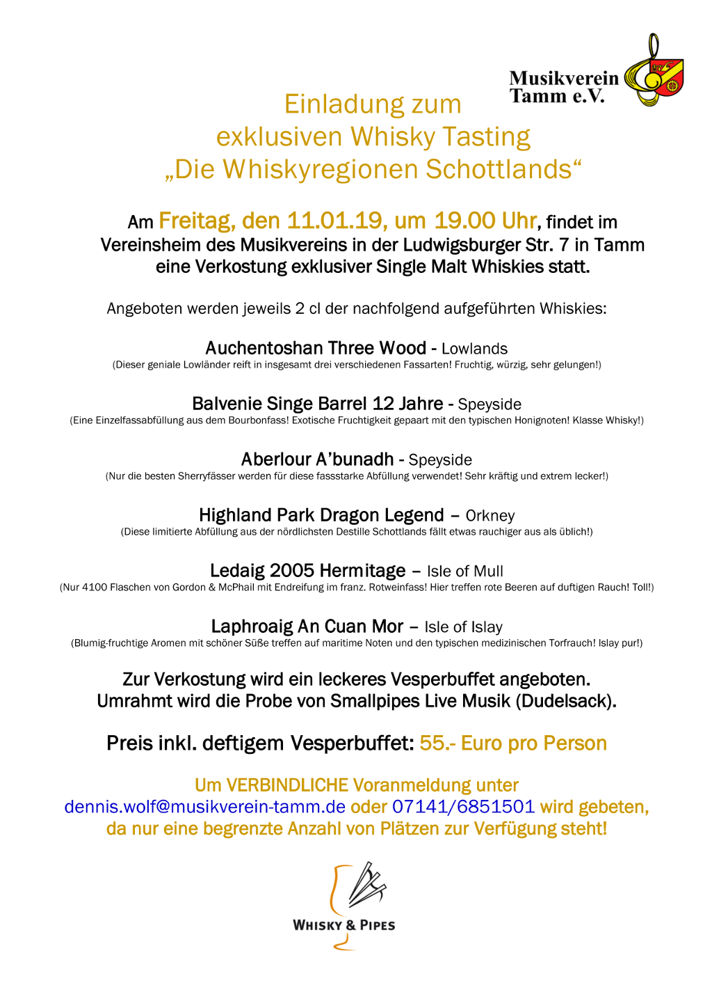 Whsiky Tasting 2019